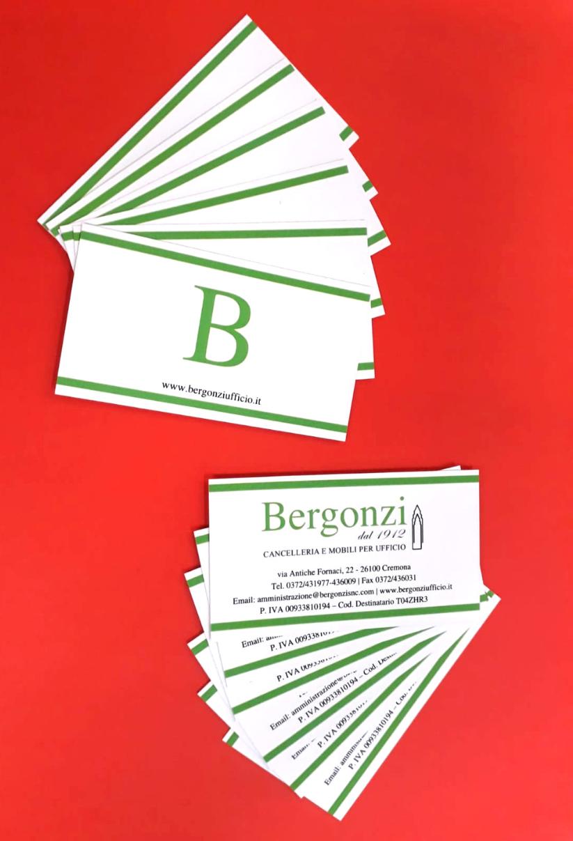 Stampa Biglietti da visita Cremona Bergonzi Ufficio